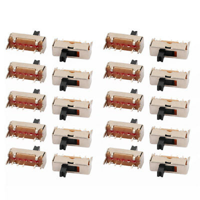 20Pcs 3 Position 4P 1P3T Panel Mount Mini Slide Switch Latching Toy Switch