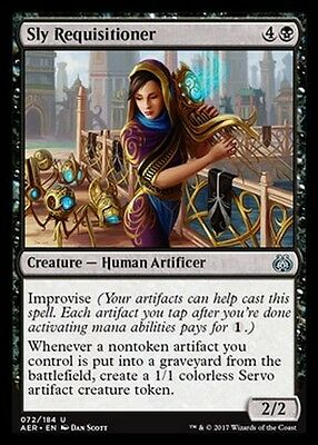 4x Requisitrice Ansiosa - Sly Requisitioner MTG MAGIC AER Eng/Ita
