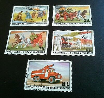 Mongolia -  5 Stamps - Fire Rescue