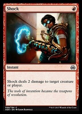 4x Shock MTG MAGIC AER Eng/Ita
