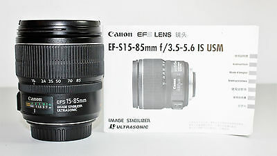 Canon EF-S 15-85mm f/3.5-5.6 IS USM Lens - #542b