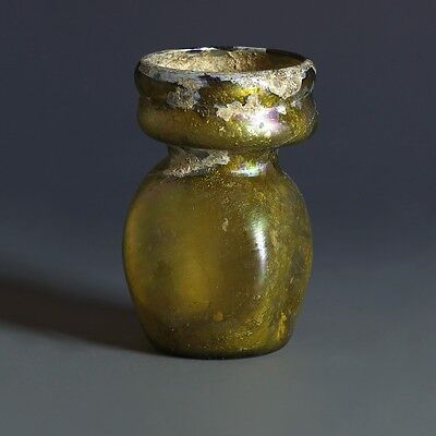 Roman Yellow Glass Collared Jar