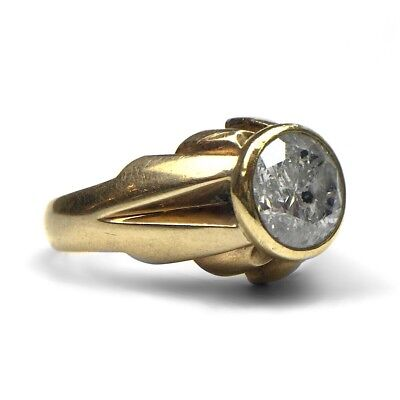 Art Deco Herren Diamant Ring Ca. 2,65 Karat Um 1930