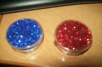 2 Box With Glitter / Box = 3,5 Cm Round/1,5 Cm High (A1) New New