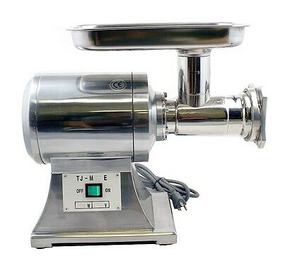 New True 1HP Commercial Stainless Steel Automatic Electric Meat Grinder #22