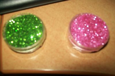 2 Box With Glitter / Box = 3,5 Cm Round/1,5 Cm High (A2) New New