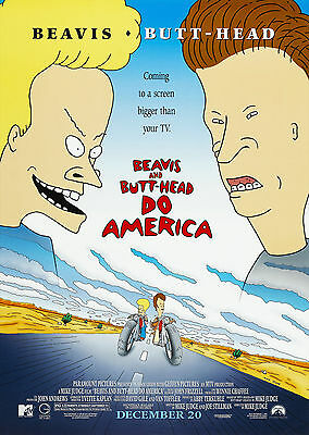 Beavis and Butt-Head do America (1996) - A1/A2 POSTER *BUY ANY 2 AND GET 1 FREE*