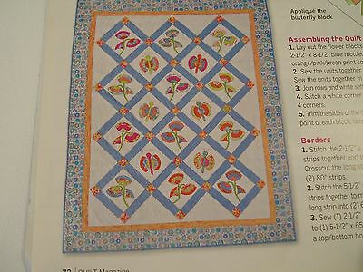 Signs of Spring Applique Quilt Pattern from Magazine