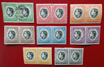 South West Africa 1937 Coronation paired set - see details