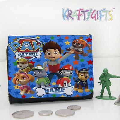 Personalised Paw Patrol Fun Dogs Boys Childrens Lunch Wallet Money Gift PW01