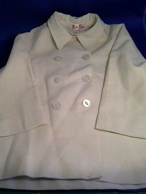 Cream linen vintage young childs unisex jacket - Rob Roy