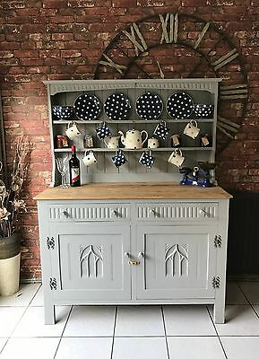 Beautiful Antique Webber Solid Oak French Painted Paris Grey Dresser Shabby Chic