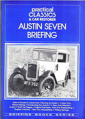 Austin Seven Briefing Practical Classics & Car Restorer Technical Tips & Buying