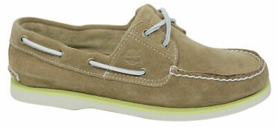 Timberland EK 2 Eye Mens Boat Deck Suede Leather Shoes Light Brown 6200A T5