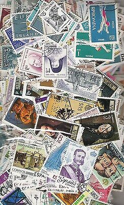 1000 + Different World Stamps Off Paper, Mixed Countries and Eras.