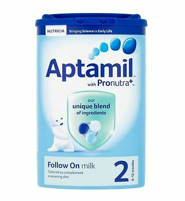 Aptamil with Pronutra+ 2 Follow On Milk 6-12 Months 900g  - 3 Pack