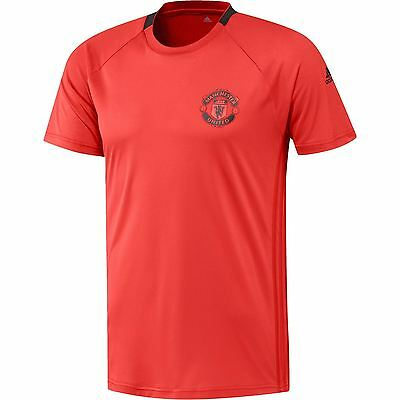 adidas Mens Gents Football Soccer Manchester United Cup Training Jersey - Red