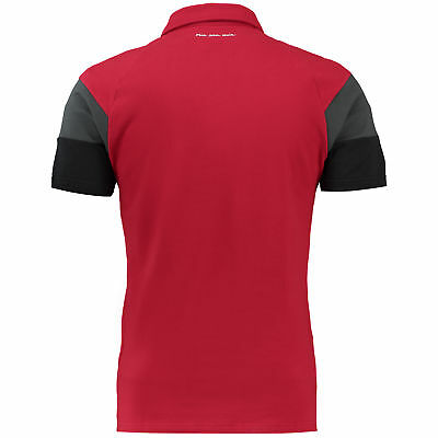 adidas Mens Gents Football Soccer Bayern Munich Training Polo Shirt Top - Red