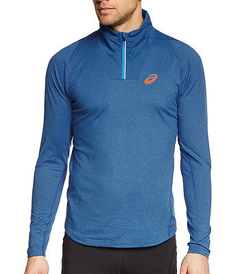 Asics Jersey Half-Zip Long Sleeve Mens Running Top - Blue