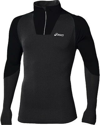 Asics Jersey Half-Zip Long Sleeve Mens Running Top - Black