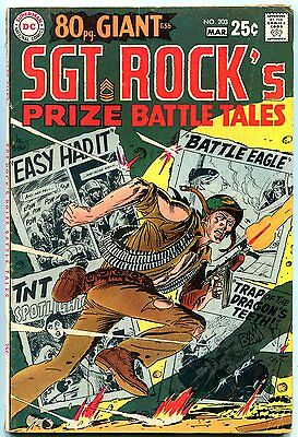 Our Army at War #203 1969- Sgt Rock- 80 page giant- DC comics VG