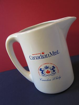 Canadian Mist Water Pitcher Bar Jug Whiskey