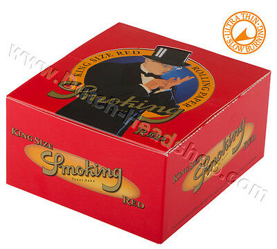 Smoking Standard  Red  Cigarette Rolling Papers - 3 booklets