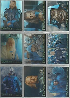 "Lord Of The Rings ROTK - ""Prismatic Foil"" 10 Card Chase Set #1-10"