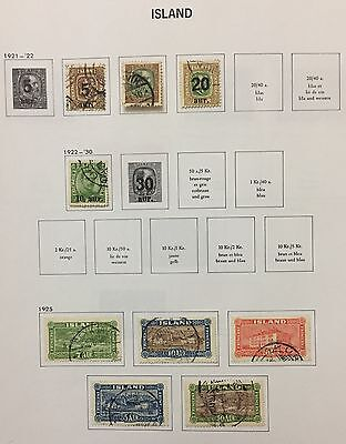 Island Iceland 1921/25 Lot Of 10 Used For Description Look At The Picture Rare