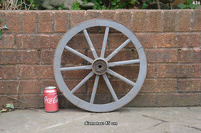 Vintage old wooden cart wagon wheel  / 45 cm FREE DELIVERY
