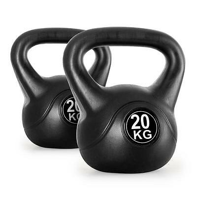 KLARFIT KETTLEBELL DUMBBELL PAIR 2x 20kg HOME FITNESS TRAINING WEIGHT LIFTING