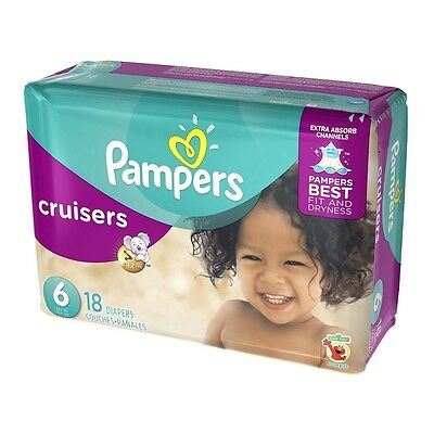 Pampers Cruisers Diapers, Size 6 18 ea (Pack of 2)