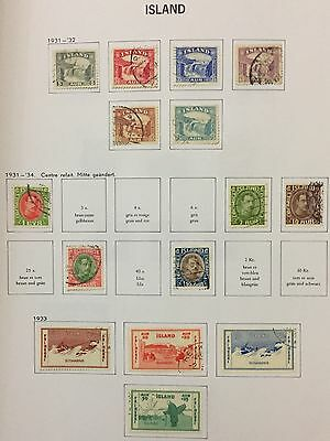 Island Iceland 1931/34 Lot Of 15 Used For Description Look At The Picture Rare