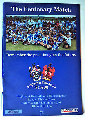 Brighton & H.A. v Bournemouth; The Centenary Match: 2001-2002