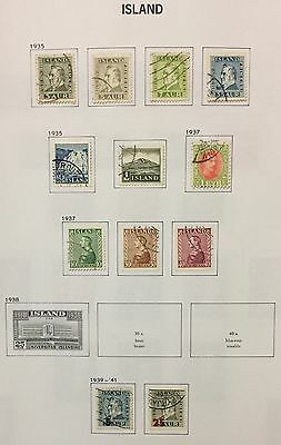 Island Iceland 1935/41 Lot Of 12 Used For Description Look At The Picture Rare