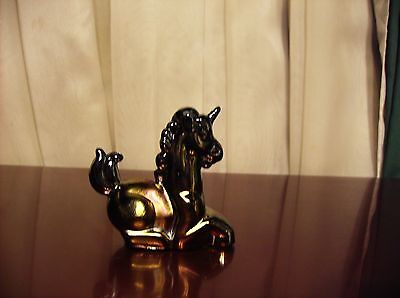 Boyd Glass Little Luck Miniature Unicorn Black Carnival Iridescent No Reserve