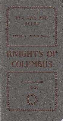 Knights of Columbus Council No 591 Fremont OH Ohio By-Laws and Rules Booklet