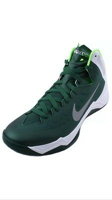 size 40 a3ab9 d4a30 New Nike Zoom Hyperquickness Mens Green White Silver Basketball Shoes Sz 12  (1