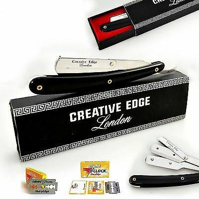 Barber Straight Cut Throat Salon Wet Shaving Razor Shavette Rasoirs Rasoi Blades