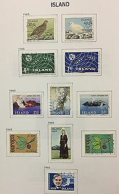 Island Iceland 1965 Lot Of 11 Used For Description Look At The Picture Rare
