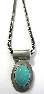 Vintage Taxco Sterling .925 & Turquoise Necklace - 24.6 grams
