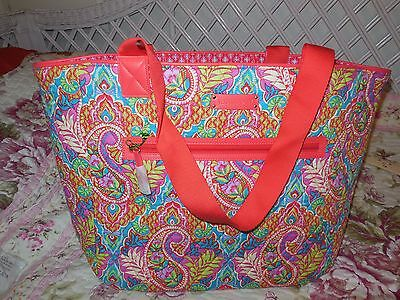 Vera Bradley REVERSIBLE  Trimmed Tote ~ PAISLEY in PARADISE ~ New NWT ~Travel