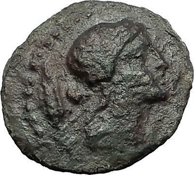 KENTORIPAE in SICILY 200BC Demeter Plow Bird RARE R1 Ancient Greek Coin i58769
