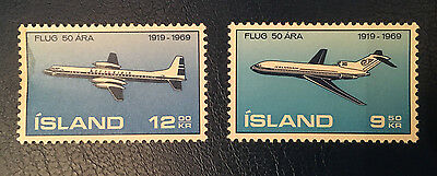 Iceland 1969 The 50th Anniversary of the Icelandic Air Traffic MNH Plane
