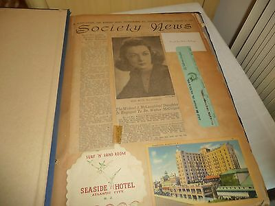 #107 vtg Scrapbook personal newspaper clipping postcards photo 1940/50 PA Doctor