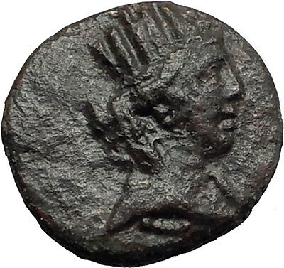 ANTIOCH on the ORONTES in SELEUKIA 92BC Tyche Tripod Ancient Greek Con  i58768