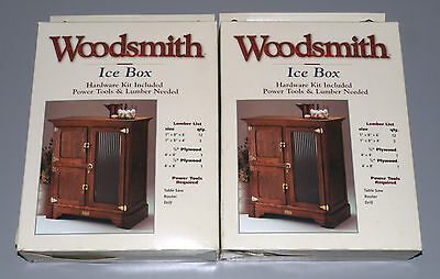 Two (2) Wood Ice Box Kits (Hardware & Plans) By Woodsmith