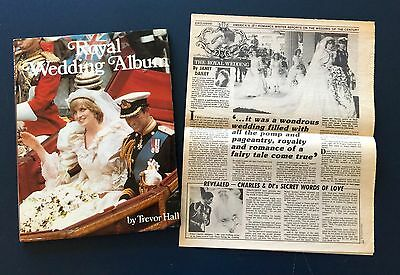 RARE Exclusive Star newspaper article Royal Wedding by Janet Dailey1981 & HCBook