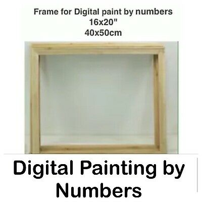 Inner Frame For Digital Paint By Number Kits. Solid Pine. Paint, Art, Picture