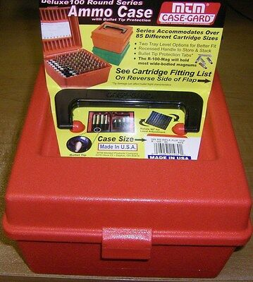 MTM Case Gard™  R-100-30 RED Rifle Cartridge Deluxe w/Handle Ammo Case